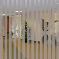 Dekorfolien Silber Matt Stripes