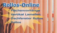 Bei Rollos Online günstig Flächenvorhänge, Lamellenvorhänge und Rollos bestellen. Rollos, Dachfenster-Rollos und Plissees preiswert maßanfertigen.